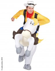 Opblaasbaar Lucky Luke™ op Jolly Jumperkostuum