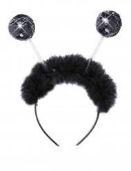 Haarband met discoballen en bont voor volwassenen