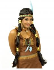 Lange indianen pruik voor vrouwen