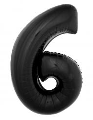 Aluminium ballon cijfer 6