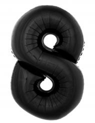 Enorme zwarte cijfer 8 ballon