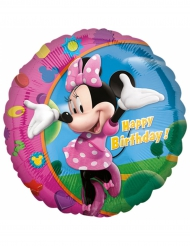 Aluminium ballon Happy Birthday Minnie™