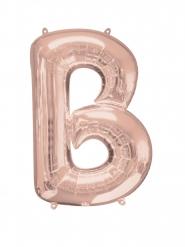 Rosé gouden letter B aluminium ballon