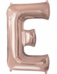 Rosé gouden letter E aluminium ballon