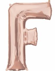 Rosé gouden aluminium letter F ballon
