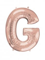 Rosé gouden letter G aluminium ballon