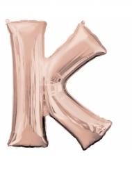 Rosé gouden letter K aluminium ballon