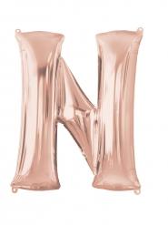 Rosé gouden letter N aluminium ballon