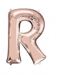Rosé gouden letter R aluminium ballon