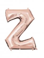 Rosé gouden letter Z aluminium ballon