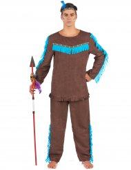 Bruin indianen kostuum voor mannen