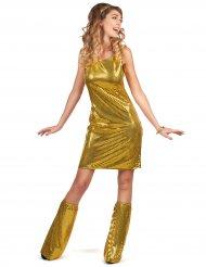 Goudkleurig disco kostuum voor dames