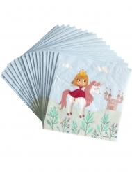 20 papieren prinses servetten