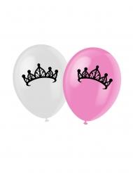 6 ballonnen met prinses