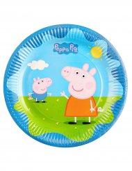 6 kartonnen Peppa Pig™ borden