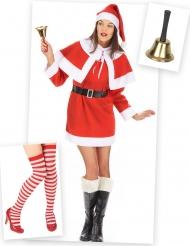 Klassiek kerstvrouw kostuum pack