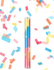Veelkleurige rechthoekige confetti kanon