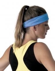 Blauwe fluo jaren 80 hoofdband voor volwassenen