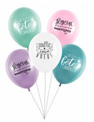 5 latex ballonnen Fais un voeu