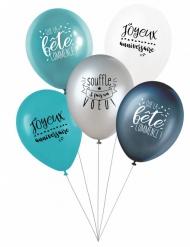 5 latex ballonnen Doe een wens