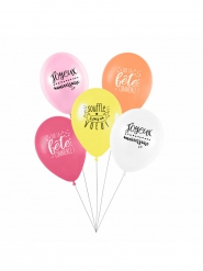 5 latex ballonnen 27 cm