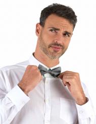 Glanzend zilverkleurig strikje voor volwassenen