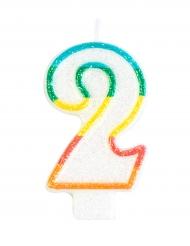 Cijfer 2 verjaardagskaars