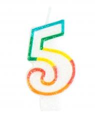 Verjaardagskaars met cijfer 5