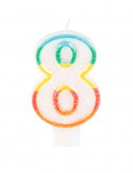 Cijfer 8 verjaardagskaars