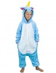 Blauw eenhoorn kostuum voor kinderen