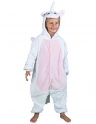 Comfortabel pluche eenhoorn pak voor kinderen