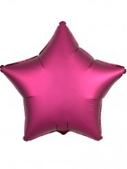 Satijnachtige fuchsia ster ballon