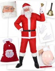 Klassiek kerstman kostuum pack voor volwassenen