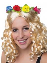 Hawaiiaanse bloemen hoofdband voor volwassenen
