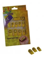 Gele peace nep nagels voor volwassenen