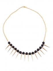 Zwarte en goudkleurige punk halsketting voor volwassenen