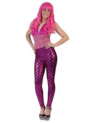 Roze zeemeermin legging voor vrouwen