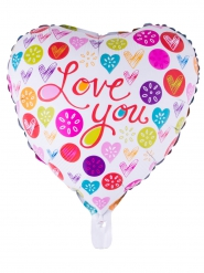Gekleurde aluminium ballon love you