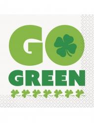 16 kleine Go Green servetten
