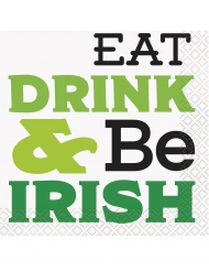 16 servetten Eat, Drink & Be Irish