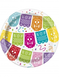 8 kleine kartonnen Mexicaanse Fiesta borden