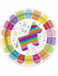 8 kartonnen Mexicaanse fiesta borden