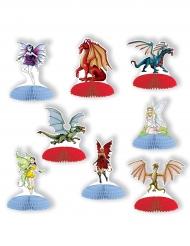 8 mini tafelstukken feeën en draken