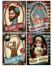 4 vintage circus posters