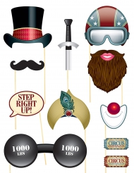 11 Photobooth circus accessoires