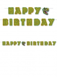 Dinosaurus Happy Birthday verjaardagsslinger