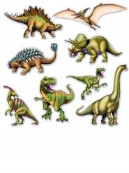 8 kartonnen dinosaurus plaatjes