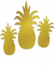 Aluminium afbeelding ananas 3 stuks
