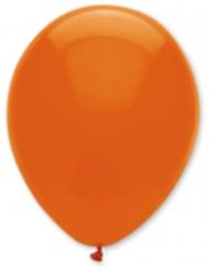 6 donkeroranje ballonnen