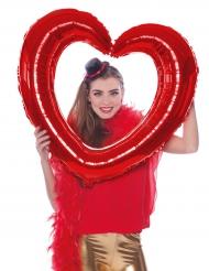 Rode aluminiumballon hart vorm